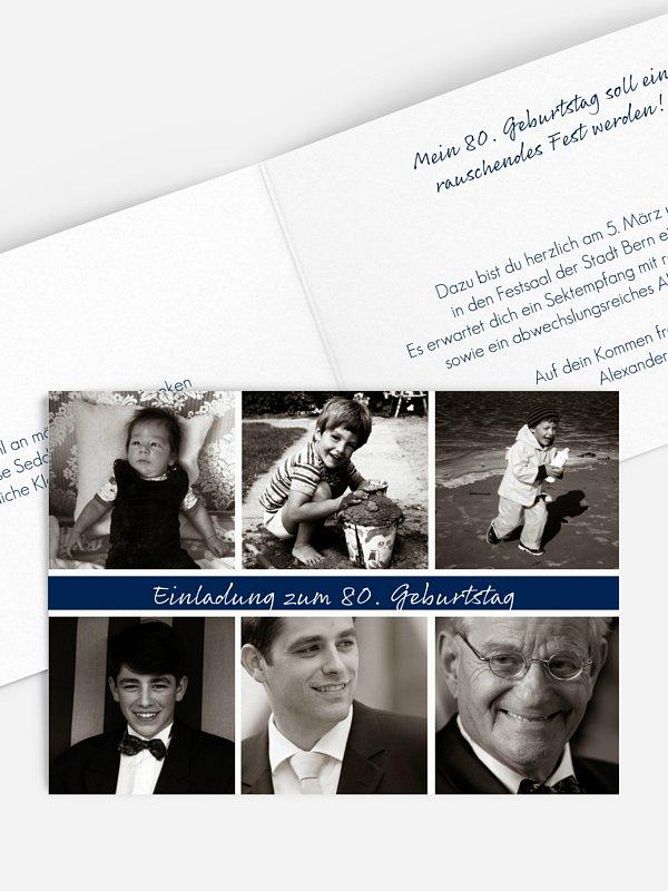 Einladung 80. Geburtstag Fotoreich