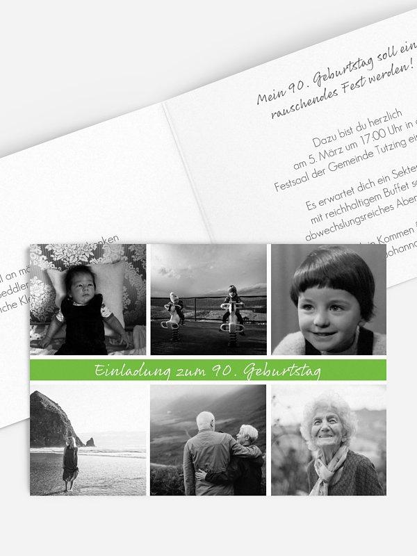 Einladung 90. Geburtstag Fotoreich