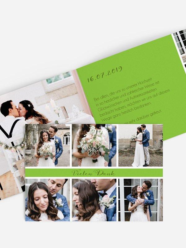 Dankeskarte Hochzeit Fotoreich