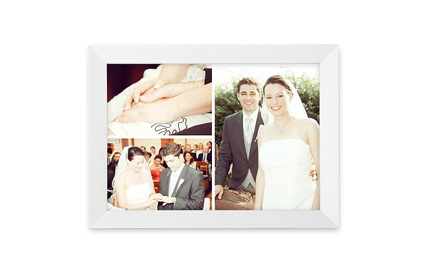 Wandbild Hochzeit Foto-Trio