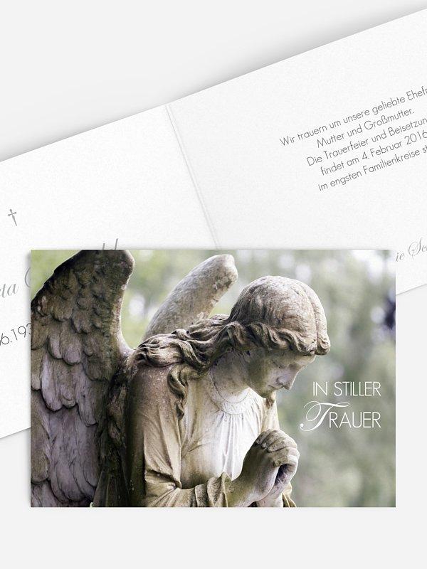 Trauerkarte Engel