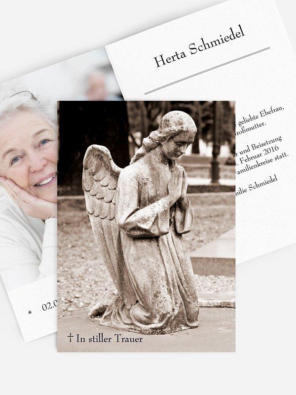 Trauerkarte Stilles Gebet