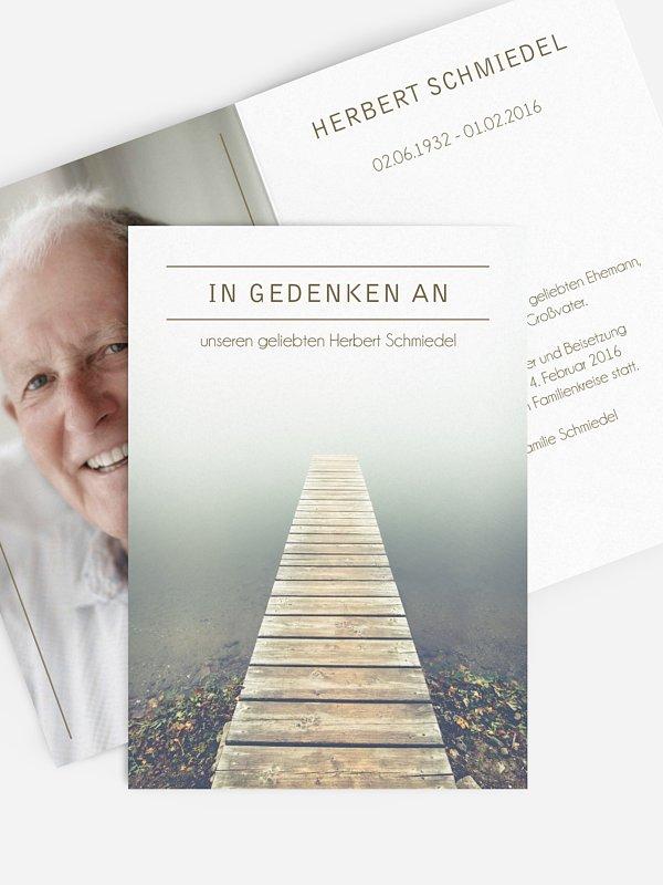 Trauerkarte Nebelmeer