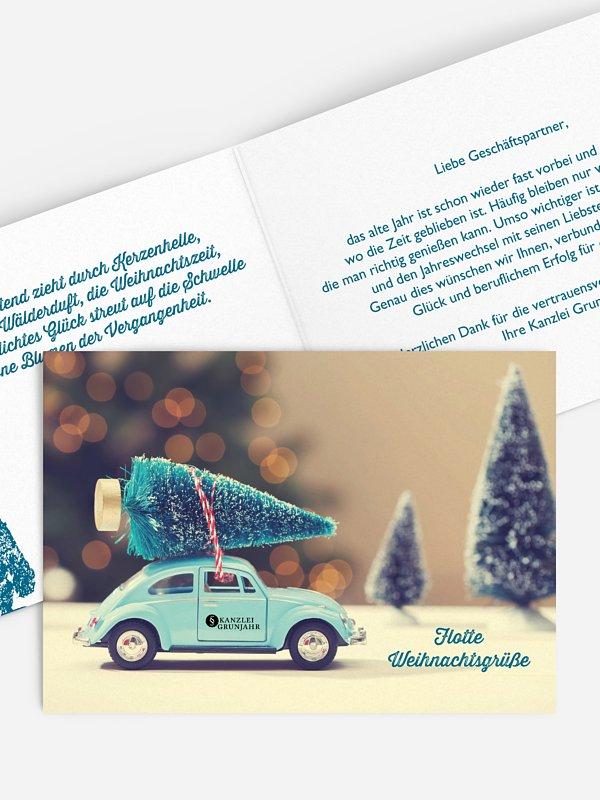 Geschäftliche Weihnachtskarte Weihnachtsexpress