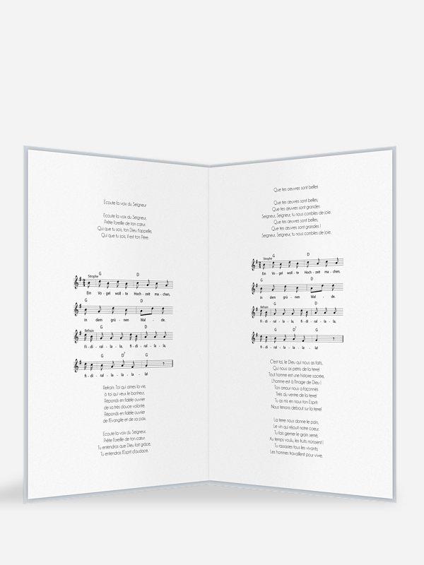 Pages supplémentaires Livret de messe