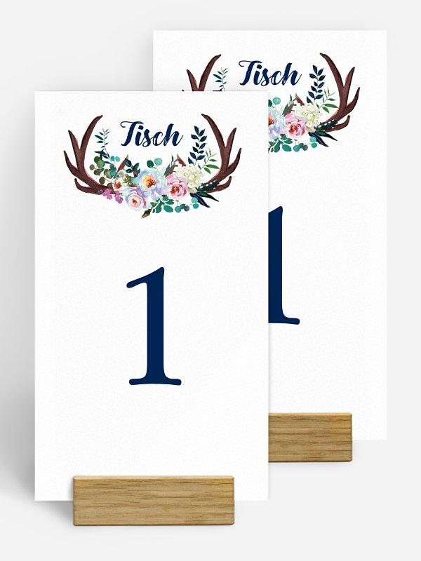 Tischnummer Bavarian Boho