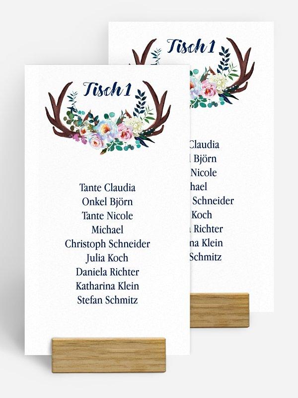 Gruppentischkarte Bavarian Boho
