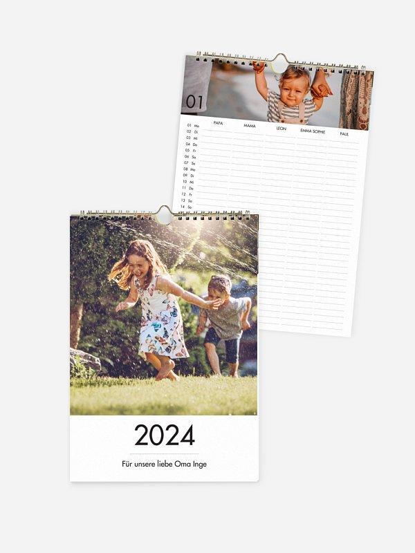 Familienkalender Schöne Zeit 5 Spalten