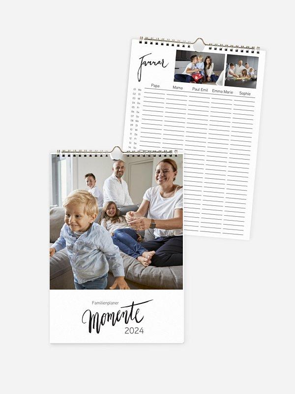 Familienkalender Modern Lettering 5 Spalten