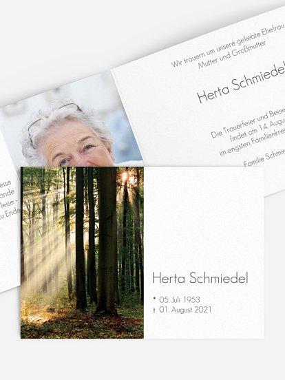 """Trauerkarte """"Lichtung"""""""