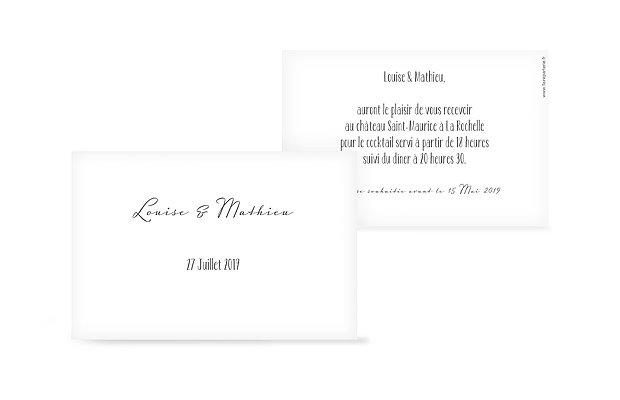 Carton d'invitation Standard