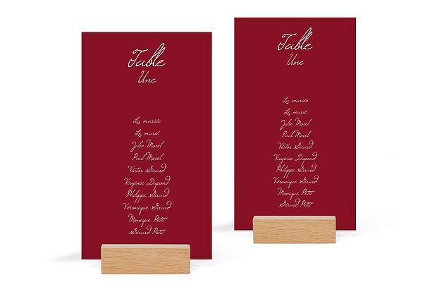 Nom de table mariage Traditionnel