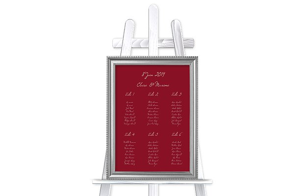 Poster plan de table mariage Traditionnel