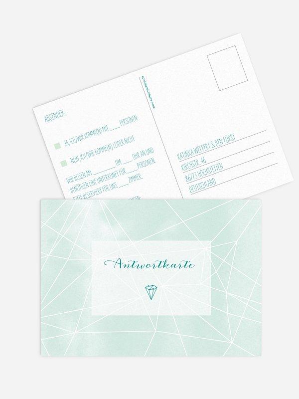 Antwortkarte Hochzeit Diamond