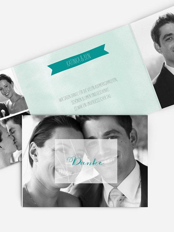 Dankeskarte Hochzeit Diamond