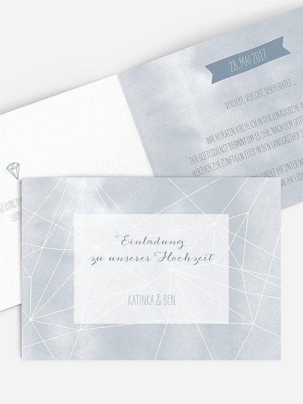 Hochzeitseinladung Diamond