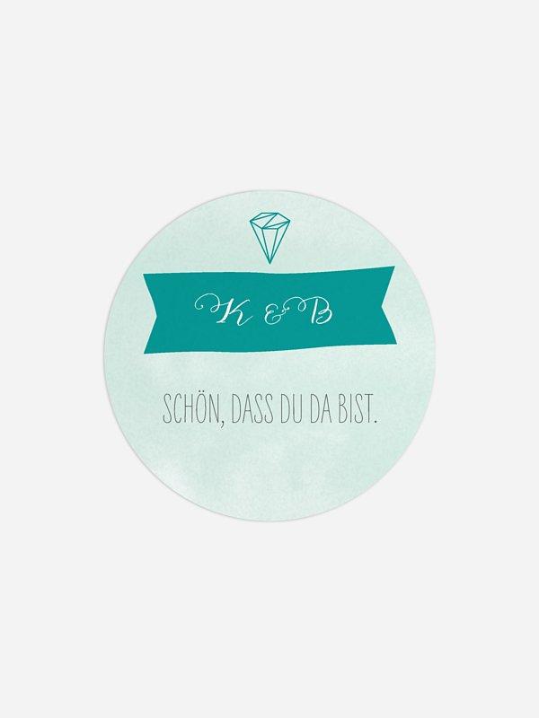 Geschenkaufkleber Hochzeit Diamond