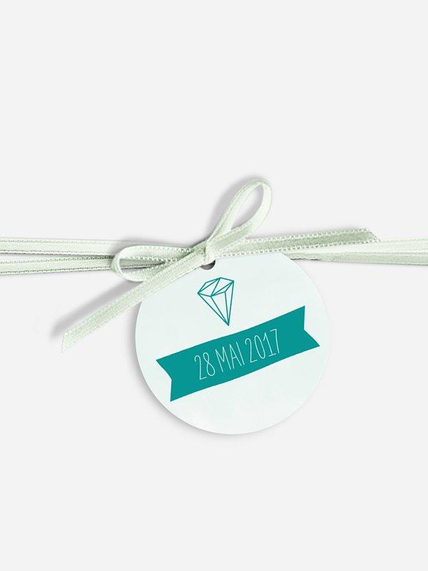 Étiquette avec ruban Diamant