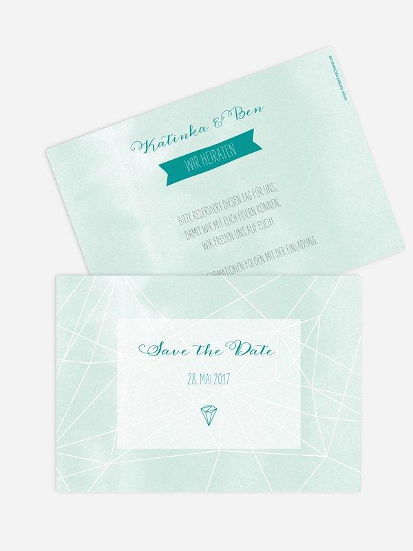 Save-the-Date Karte Diamond