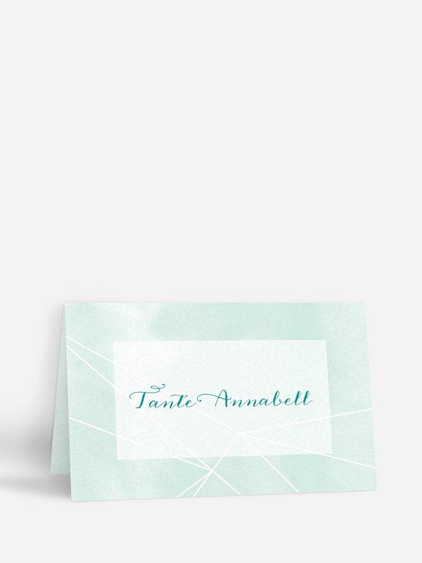 Tischkarte Hochzeit Diamond