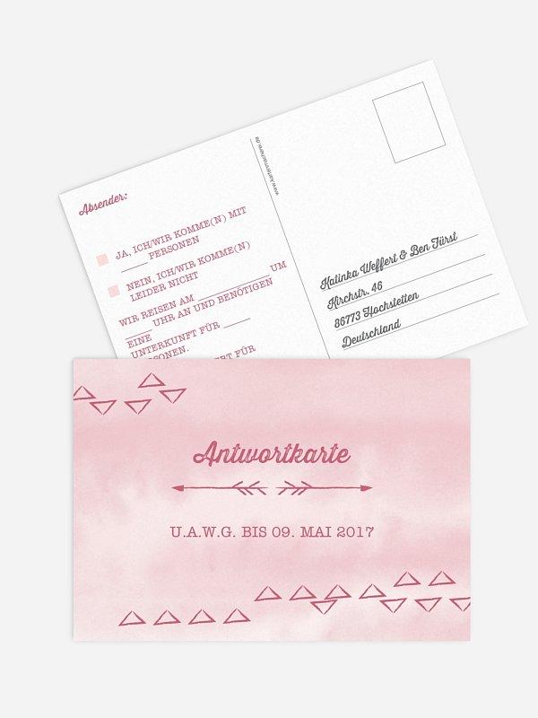 Antwortkarte Hochzeit Boho
