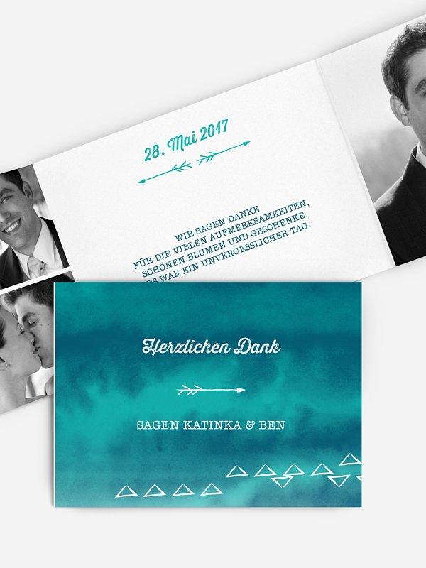 Dankeskarte Hochzeit Boho