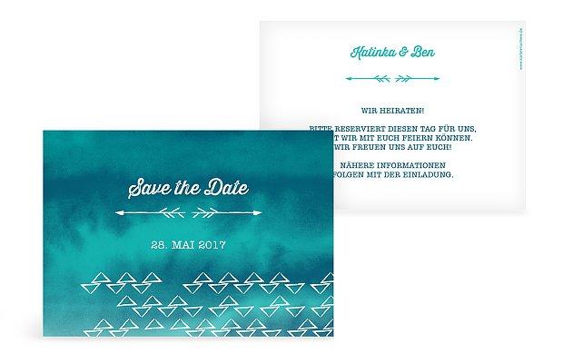 Save-the-Date Karte Boho