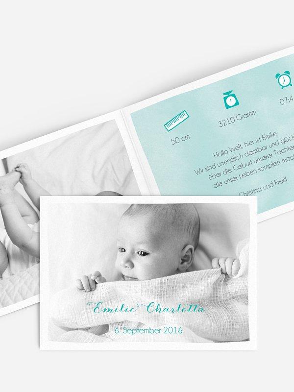 Geburtskarte Light Colours