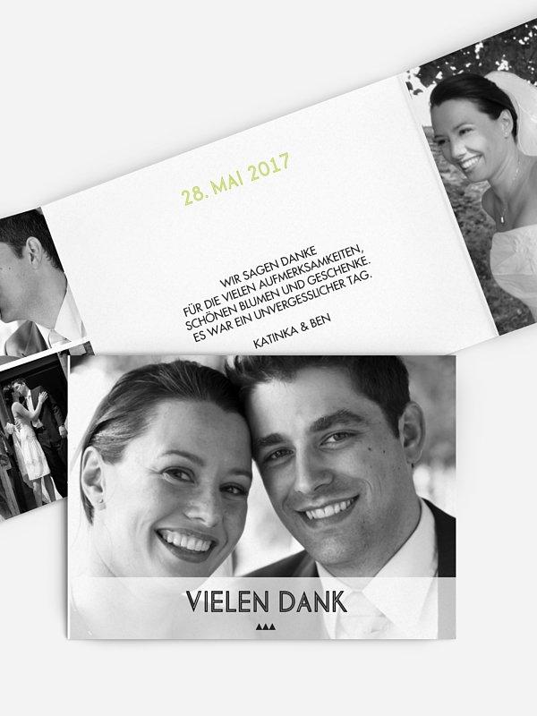 Dankeskarte Hochzeit Farn