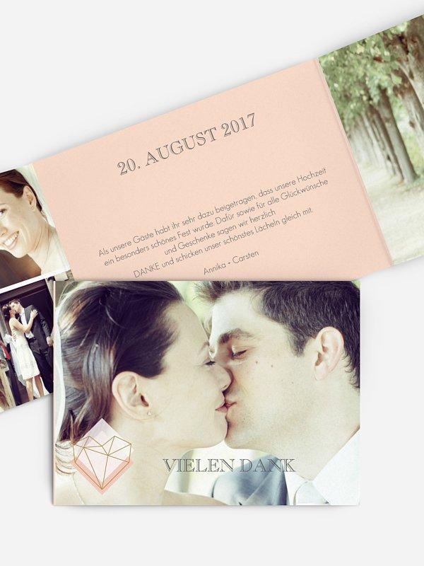 Dankeskarte Hochzeit Geometric Love