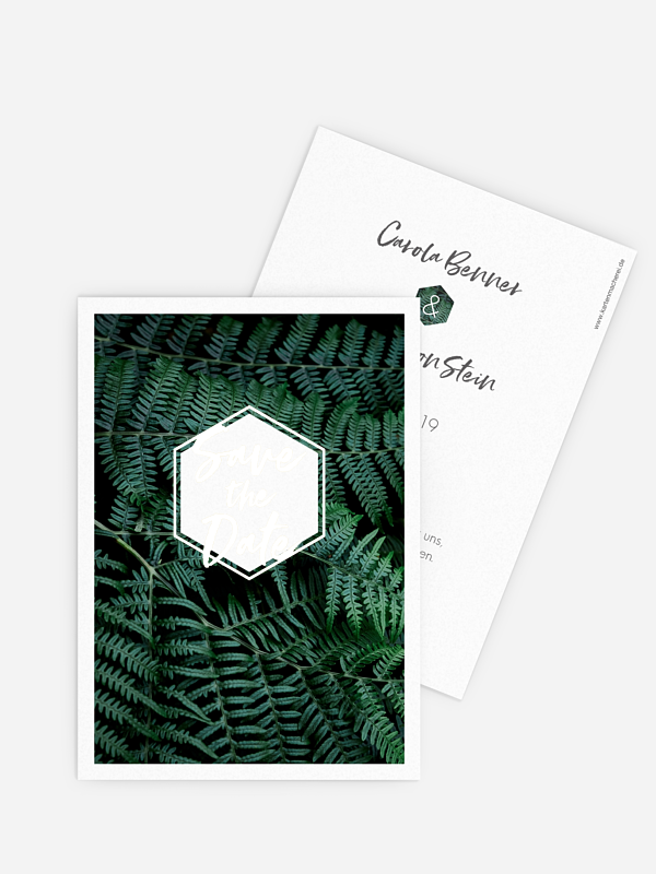 Save-the-Date Karte Styled Fern Premium