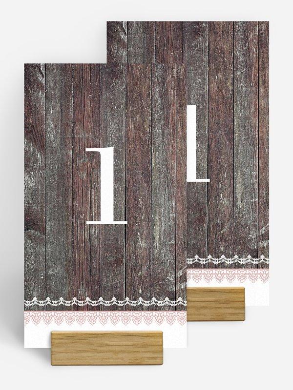 Tischnummer Wood & Lace