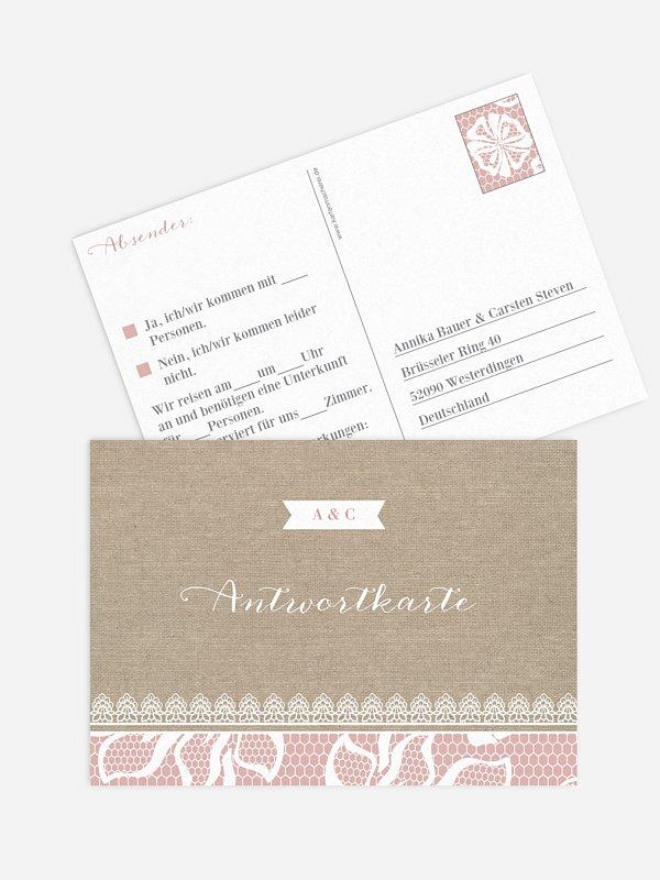 Antwortkarte Hochzeit Enchanté