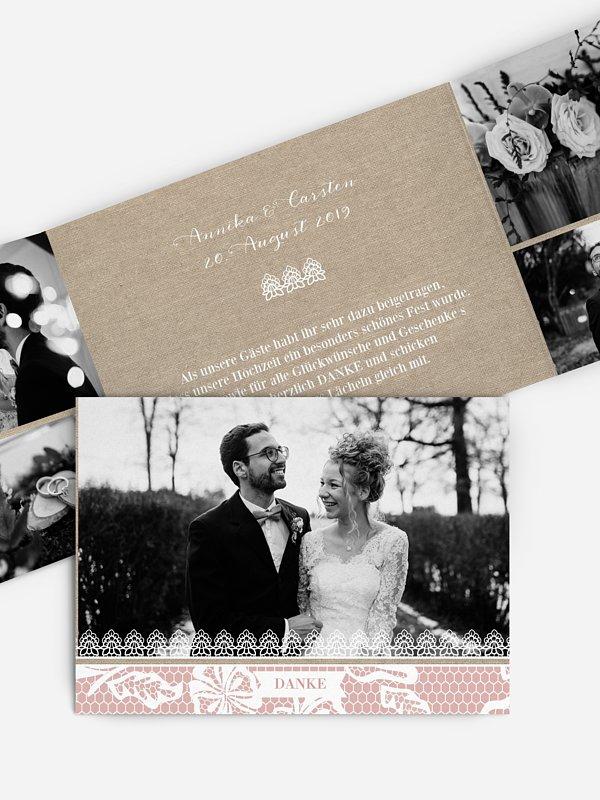Dankeskarte Hochzeit Enchanté