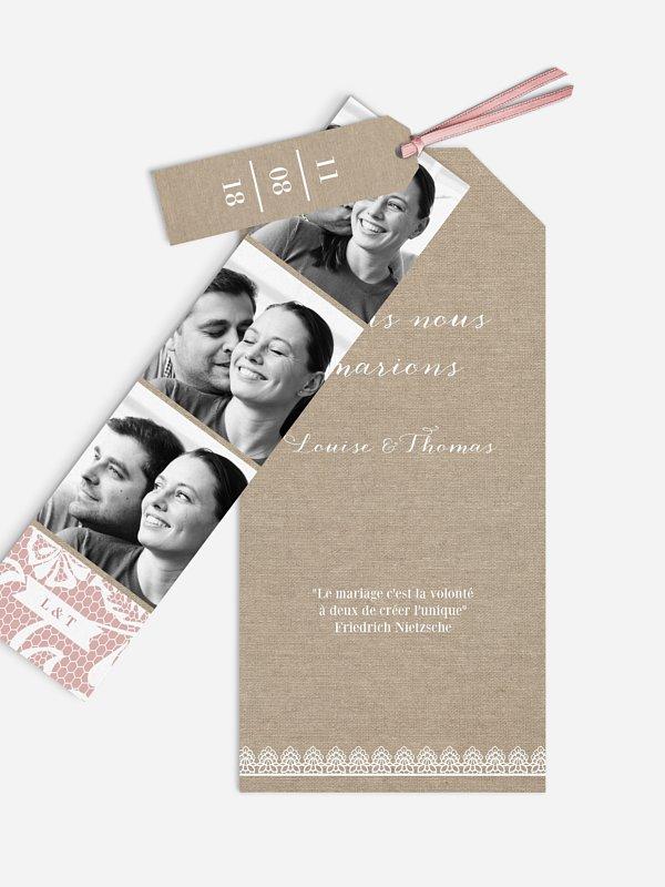 Faire-part mariage Dentelle champêtre