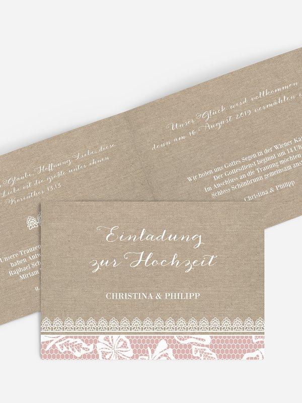 Hochzeitseinladung Enchanté