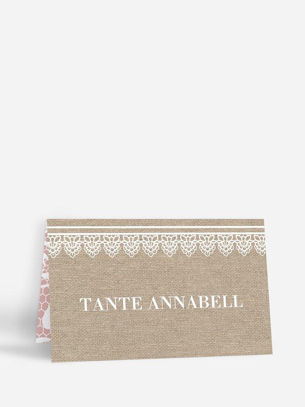 Tischkarte Hochzeit Enchanté