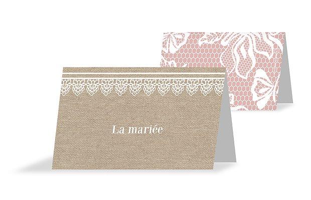 marque place mariage dentelle champ tre. Black Bedroom Furniture Sets. Home Design Ideas
