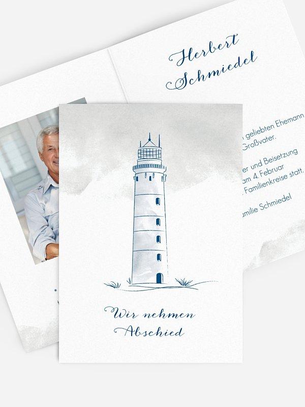 Trauerkarte Leuchtturm