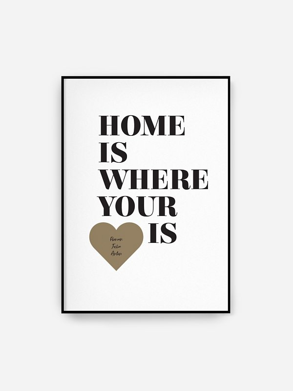 Poster Home Is