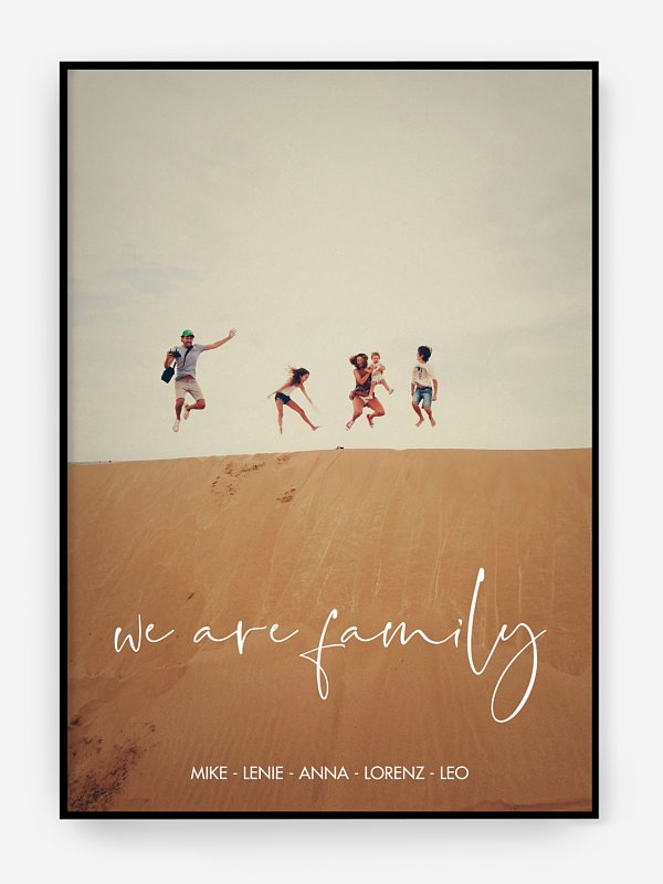 Poster Ostern We Are Family