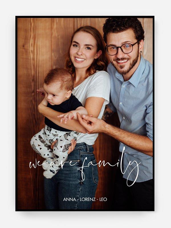 Poster Geburt We Are Family