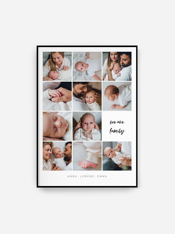 Poster Geburt Augenblick