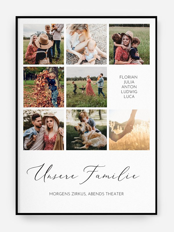 Poster Muttertag Unsere Familie