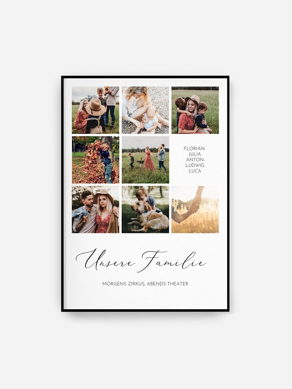 Poster Ostern Unsere Familie