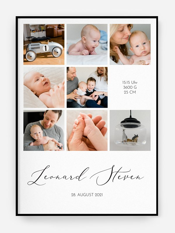 Poster Geburt Unsere Familie
