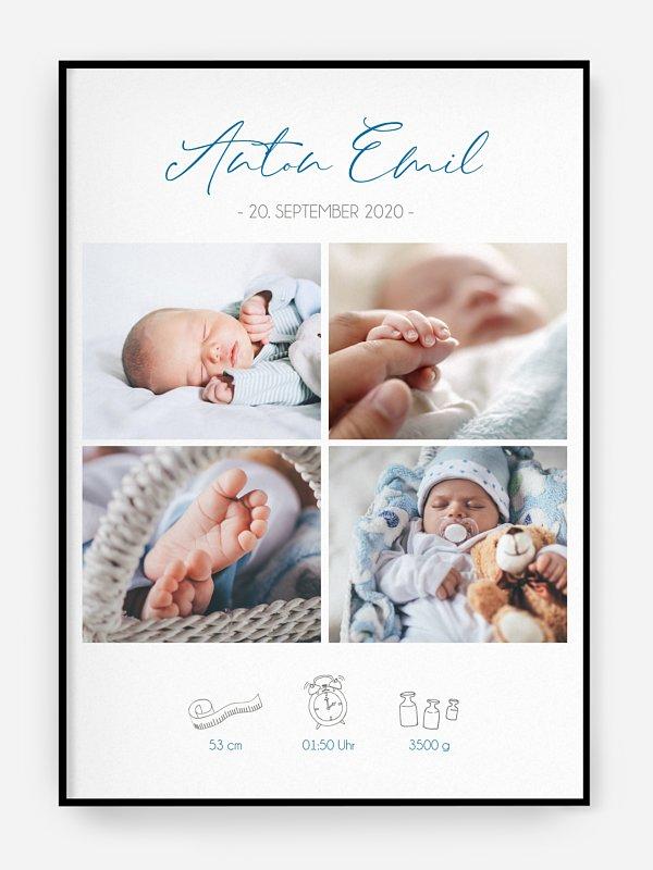 Poster Geburt Hallo kleines Wunder