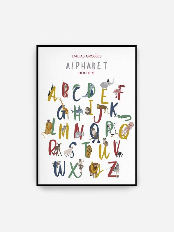 Poster Großes Alphabet der Tiere