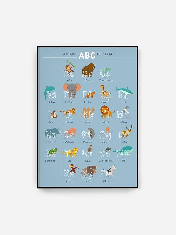 Poster Das ABC der Tiere