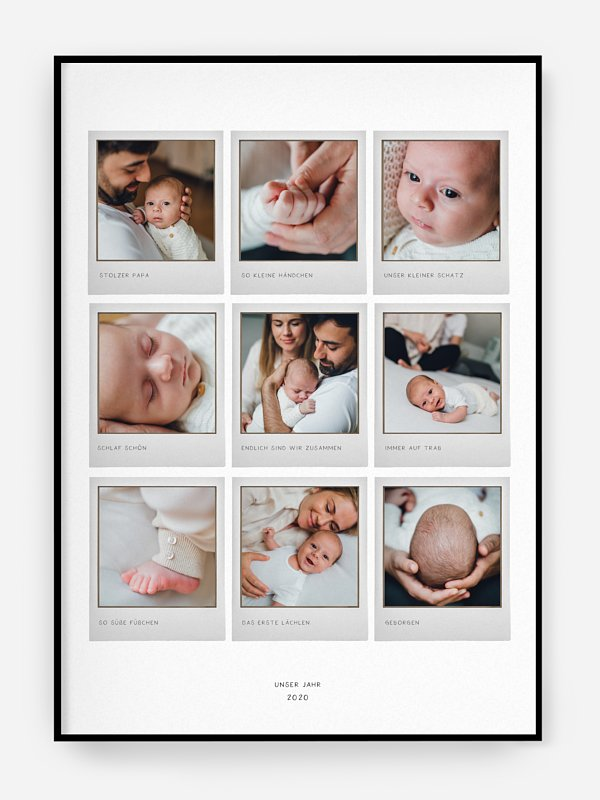 Poster Geburt Lächeln